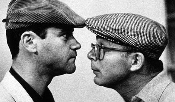Billy Wilder and Jack Lemmon on set of The Apartment, 1960