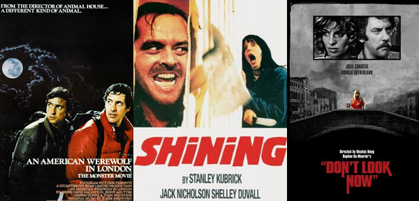 British Horror Film International Co-Productions - An American Werwolf in London, Don't Look Now, The Shining