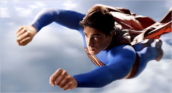 flying superman,