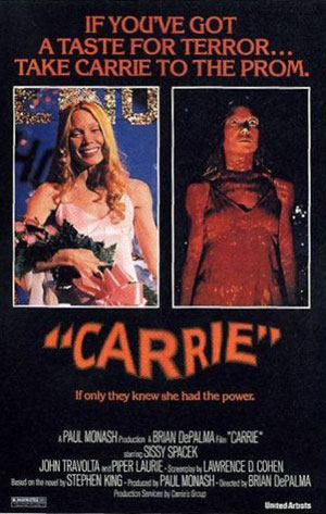 carrie, film, best horror, 1960s, 1970s, top 10 films,