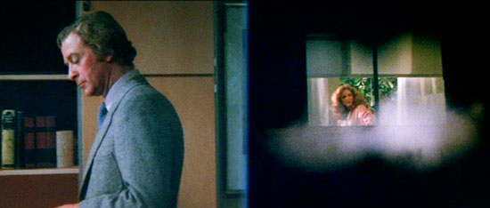 dressed to kill, michael caine, film, split screen,