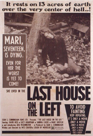 last house on the left, 70s horror, film poster,
