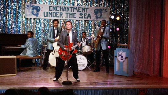 back to the future, marty mcfly invents rock music,