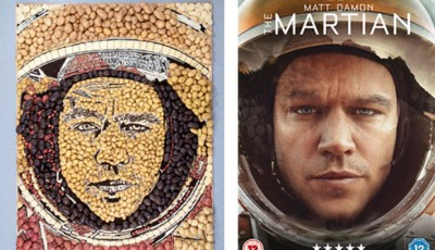 Mash Damon - Ridley Scott's The Martian poster recreated out of potatoes.