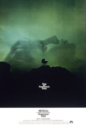 rosemary's baby, film, horror, roman polanski, mia farrow, witches, top ten films,
