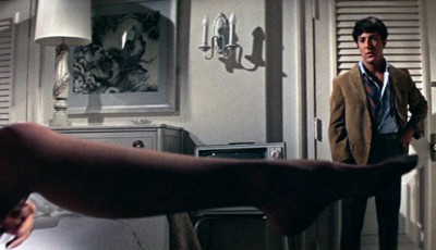 Mike Nichols' iconic shot of Anne Bankcroft's leg in front of Dustin Hoffman