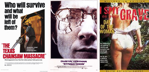 texas chainsaw massacre, straw dogs, spit on your grave, banned films,