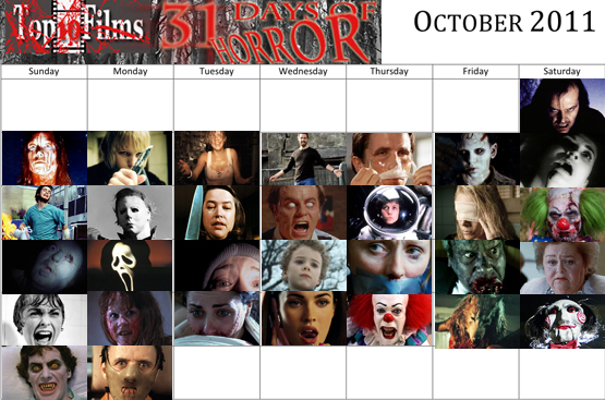 31 days of horror, film quiz, competition, prize,