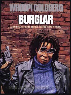 burglar, whoopi goldberg, film, comedy,