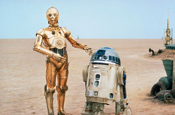 C-3PO, robots that think they are human, Star Wars, R2-D2, George Lucas,
