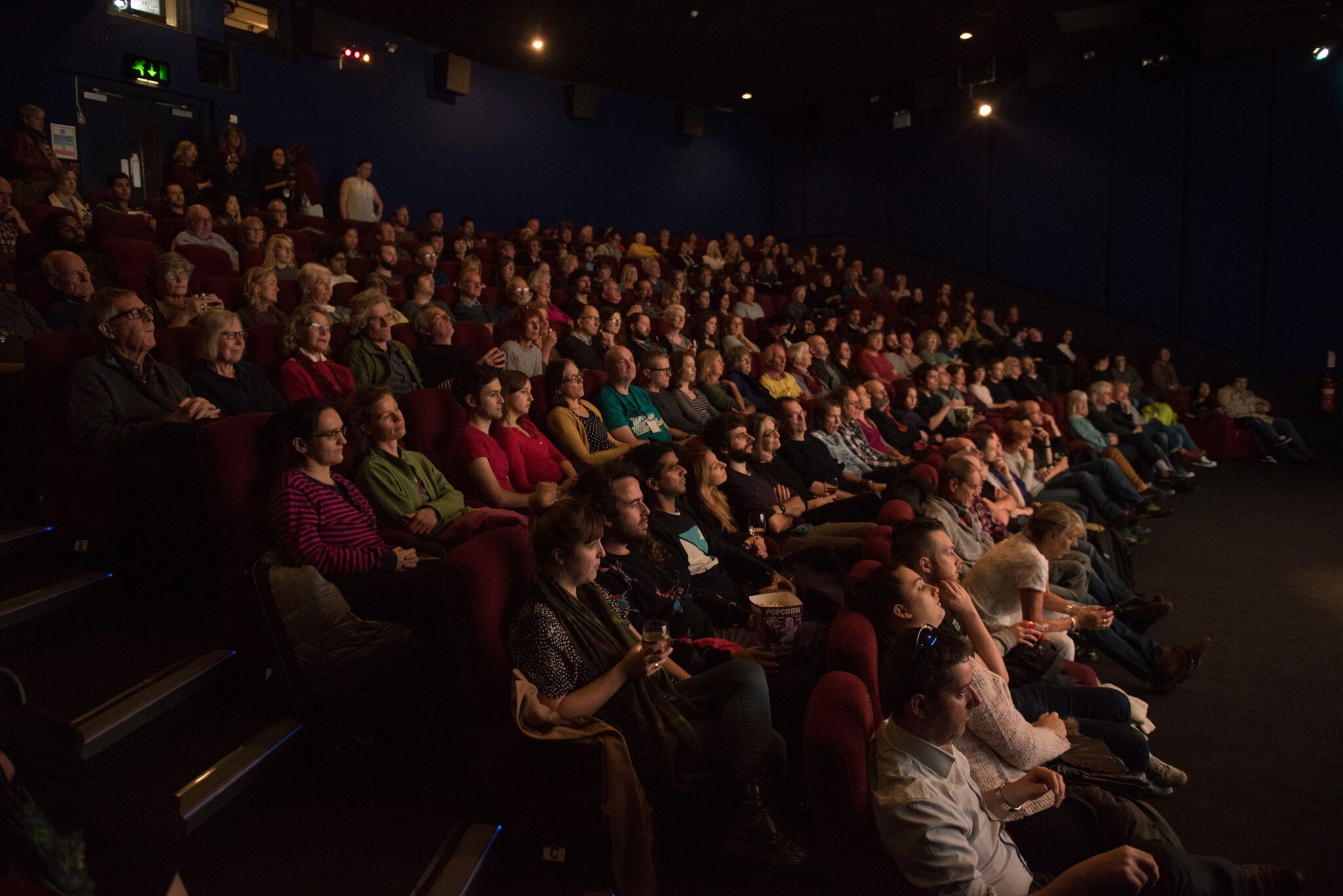 Audience members at the Cambridge Film Festival.