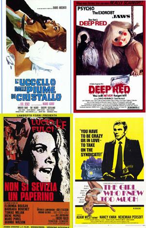 Giallo, Italian Film Posters