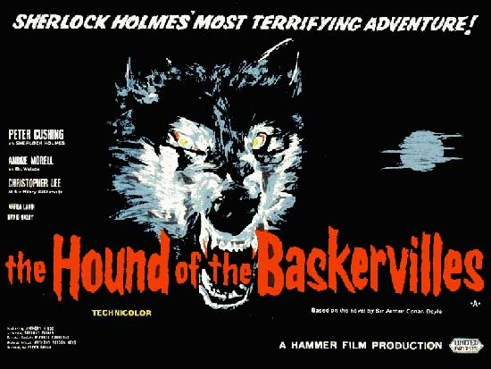Hammer Horror history, hound of the baskervilles,