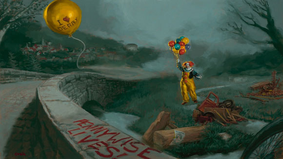 Illustration depicting Pennywise from Stephen King's novel IT. Photo Credit: Orbik