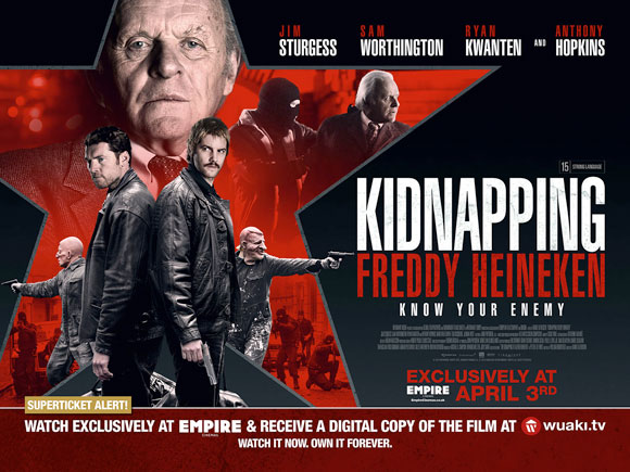 Audiences at Empire Cinemas will be able to take part in a UK first this April as the SuperTicket launches in time for the release of Anthony Hopkins' latest thriller Kidnapping Freddy Heineken