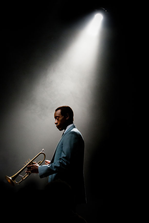 Ahead of its UK theatrical release on April 22, Don Cheadle's directorial debut Miles Ahead, a film inspired by events in the great jazz musician Miles Davis' life, reveals some startling new stills...
