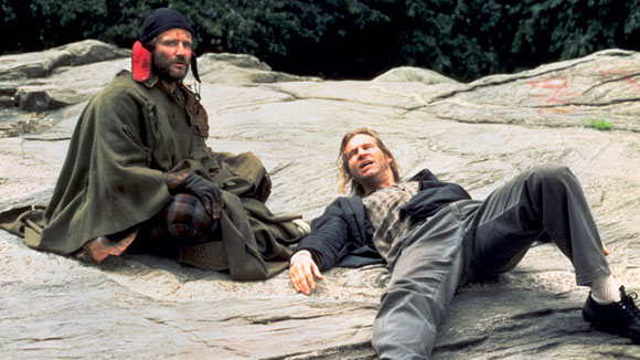 Robin Williams with Jeff Bridges in Terry Gilliam's The Fisher King (1991)