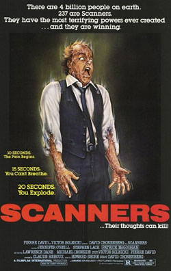 Scanners Film Poster, David Cronenberg