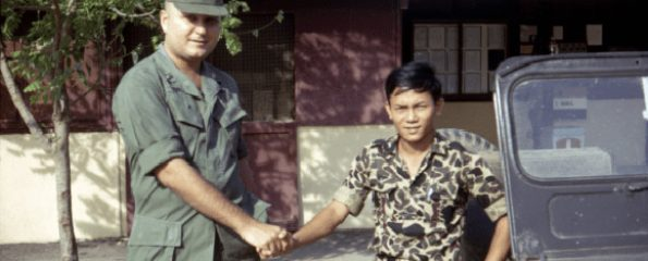 John Murphy with an ARVN intelligence officer. (Image copyright Lt. Murphy Film LLC)