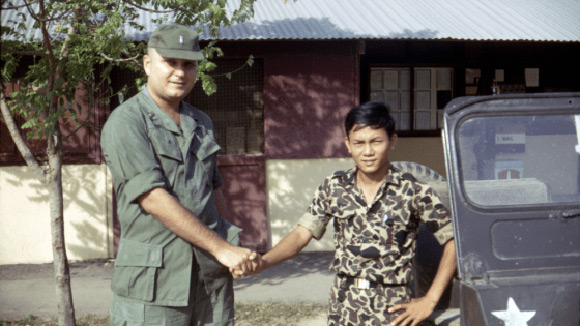 John Murphy with an ARVN intelligence officer. (Image copyright Lt. Murphy Film LLC)