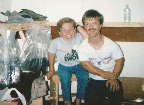 Andy Herd with Warwick Davis.