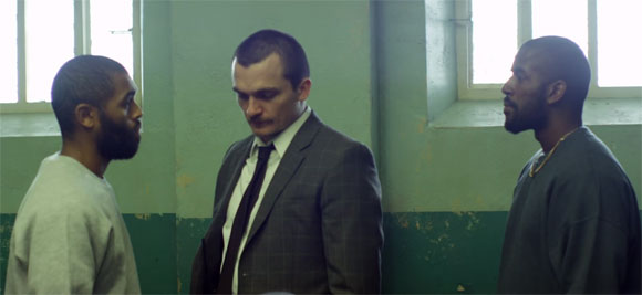 Anthony Welsh alongside Homeland star Rupert Friend in gritty prison crime drama Starred Up.