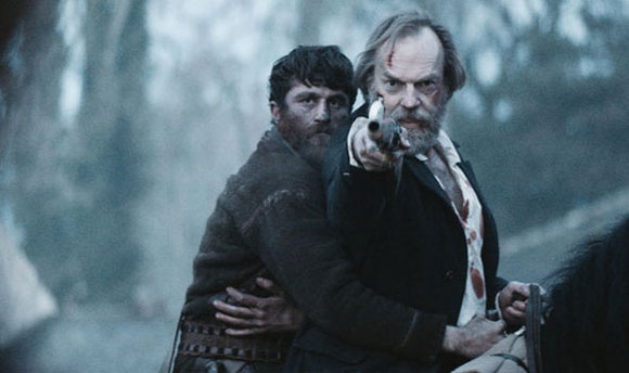 James Frecheville with Hugo Weaving in Black 47.