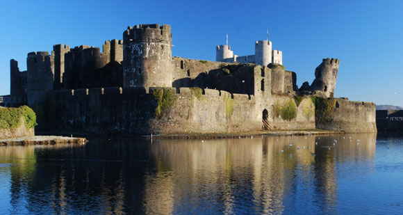 Caerphilly Castle -  Wales on Film