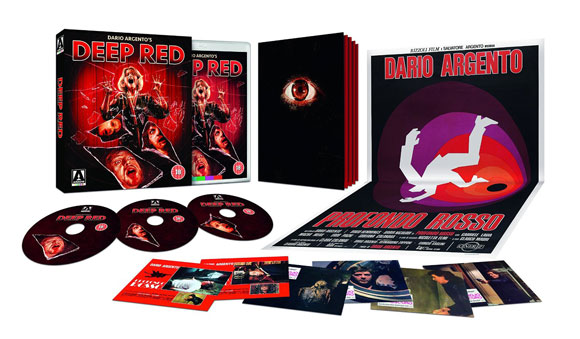 3-DISC LIMITED EDITION CONTENTS High Definition Blu-ray (1080p) presentation of two versions of the film / Limited Edition soundtrack CD / 6 x postcard-sized lobby card reproductions / Double-sided fold-out poster featuring two original artworks / Reversible sleeve featuring original and newly commissioned artwork by Gilles Vranckx / Limited Edition booklet featuring new writing on the film by Mikel J. Koven, author of La Dolce Morte: Vernacular Cinema and the Italian Giallo Film