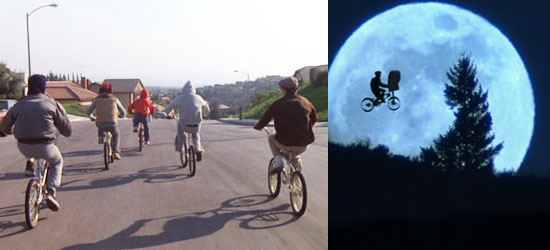 kids take flight on BMX bikes et steven spielberg