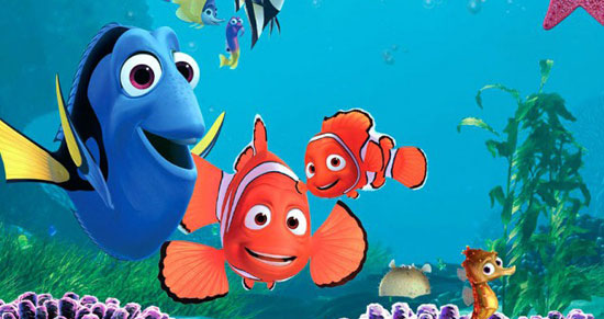 finding nemo, film, pixar, top 10 computer animated films,