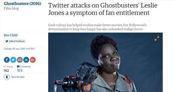 """Ghostbusters"" Backlash & Internet Trolling Is Wake-Up Call For Lazy Hollywood"