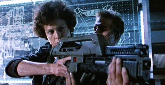 Alien, Aliens, Sigourney Weaver, Ridley Scott, James Cameron, dominant female film role,