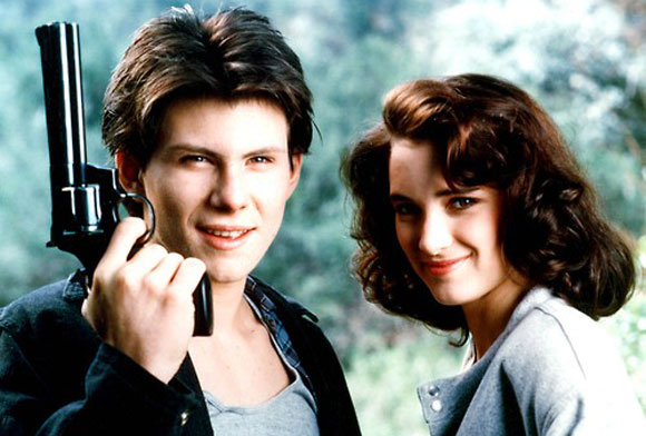 Christian Slater, Winona Ryder, Heathers, Dark teen drama, high school,