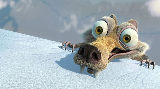 ice age, film, animation, fox,