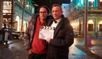 The social media accounts of James Bond 25 released a picture of Daniel Craig and director Cary Fukunaga wrapping principle photography on the latest movie featuring the British secret agent.