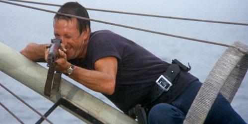 jaws roy schneider kills shark steven spielberg film