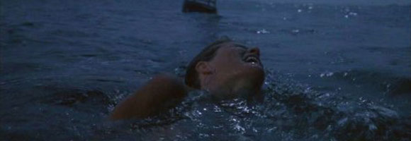 Jaws, Steven Spielberg, Film, Chrissie Watkins, sea, shark,