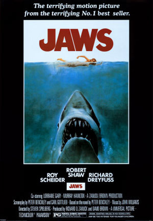 jaws, steven spielberg, horror 1970s, best, top10films,