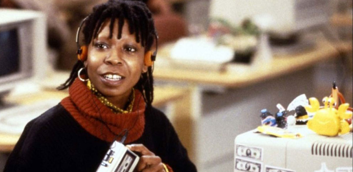 Whoopi have eyebrows no why does goldberg Why does