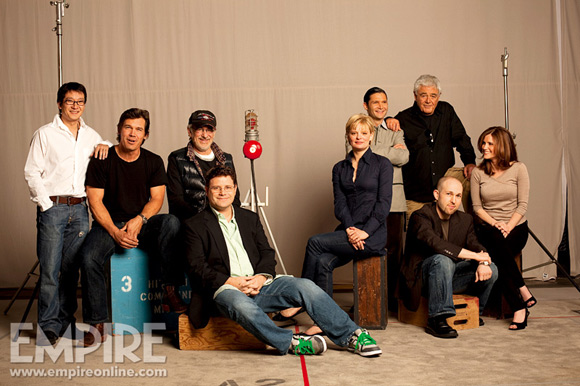 Kerri Green alongside the rest of The Goonies posing for Empire Magazine in 2009 for the film's 20th anniversary