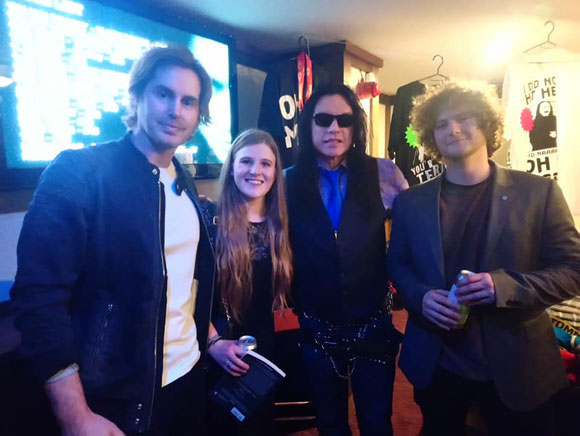 Leah and friends meet Tommy Wiseau.
