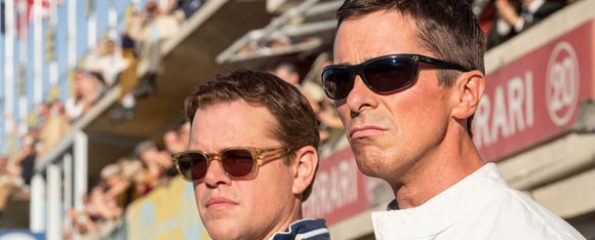Christian Bale and Matt Damon in Le Mans 66