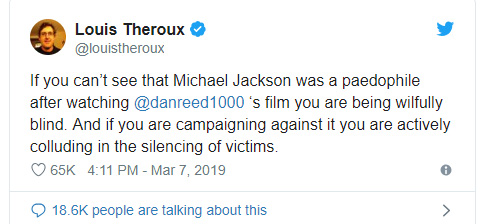 Louis Theroux - Micheal Jackson - tweet
