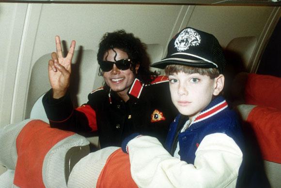 Michael Jackson with Jimmy Safechuck.