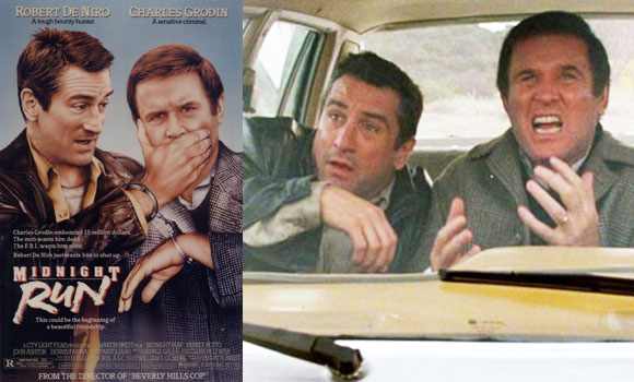 midnight run, film, robert de niro, road trip comedy,