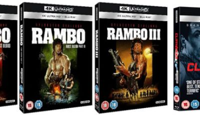 Rambo and Cliffhanger Blu-rays