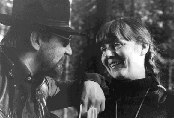 Renate Leiffer with Rainer Warner Fassbinder – courtesy of Leiffer