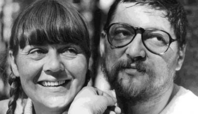 Renate Leiffer with Rainer Warner Fassbinder – courtesy of Leiffer