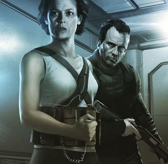 Ripley and Hicks in Alien 5, Sigourney Weaver, Michael Biehn, Top 10 Films,